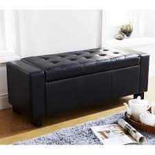 VERONA OTTOMAN BLANKET BOX STORAGE BENCH FAUX LEATHER FOOT STOOL