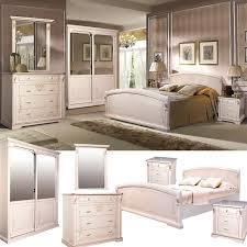selene schlafzimmer komplett set massivholz erle weiß mit goldener patina