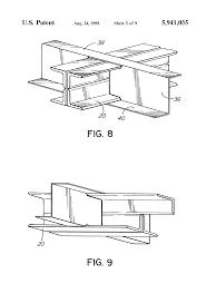 Distance Between Floor Joists Canada by Patent Us5941035 Steel Joist And Concrete Floor System Google