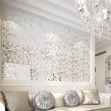 yizunnu raumteiler zum aufhängen aus pvc paneelen raumteiler zur dekoration wohnzimmer esszimmer wohnzimmer büro restaurant dekoration weiß