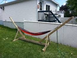 DIY Hammock Stand: 3 Steps (with Pictures) Fniture Indoor Hammock Chair Stand Wooden Diy Tripod Hammocks 40 That You Can Make This Weekend 20 Hangout Ideas For Your Backyard Garden Lovers Club I Dont Have Trees A Hammock And Didnt Want Metal Frame So How To Build Pergola In Under 200 A Durable From Posts 25 Unique Stand Ideas On Pinterest Diy Patio Admirable Homemade To At Relax Your Yard Even Without With Zig Zag Reviews Home Outdoor Decoration