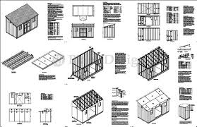 10 X 16 Shed Plans Free by 10 U0027 X 16 U0027 Deluxe Back Yard Storage Shed Project Plan Lean To