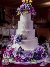 HD of elegant purple wedding cakes