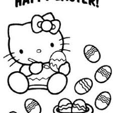 Hello Kitty In The Winter Coloring Page