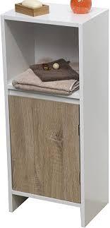 schrank fürs badezimmer 1 tür und 1 kastenfach skandinavischer stil