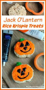 Rice Krispie Treats Halloween Shapes by Jack O U0027lantern Rice Krispie Treats