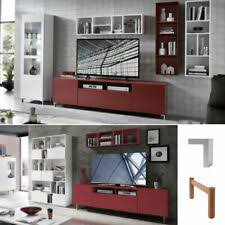 wohnwand 2 tlg wohnzimmer set kazo tv board 195 cm regal rot