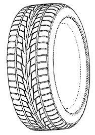 How To Draw Car Tire Colouring Page
