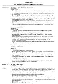 Download Plumbing Resume Sample As Image File
