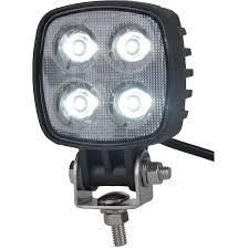 MAXXIMA Mini Square Black LED Work Light, 3-3/16