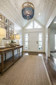 Country Foyer Decorating With Themed Decorative Pillows Entry Beach Style And Recessed Lighting