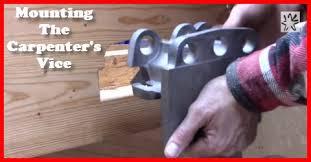 poor man u0027s workbench 16 installing a woodworking bench vise