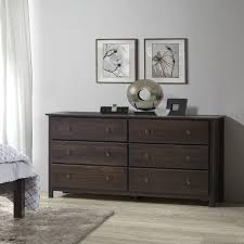 South Shore 6 Drawer Dresser Espresso by Dressers U0026 Chest Of Drawers