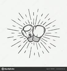 Boxing Gloves In Vintage Style Vector Illustration Stock