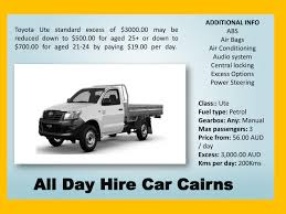 100 Rent A Pickup Truck For A Day Ll Car Rental Cairns Alldaycarrentalscomau