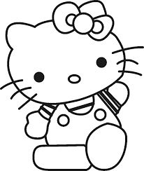 Coloring Pages Printable Hello Kitty Free Books For Kids Cute Characters Ribbon Use Knowledge Improve