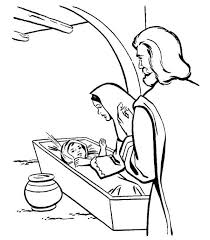 Birth Of Coloring Pages Jesus Baby