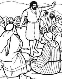 Printable Coloring Pages John The Baptist Page Netart