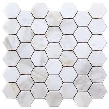 calacatta gold hexagon mosaic tile hexagon mosaic tile
