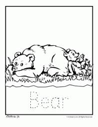 Zoo Animal Coloring Pages Baby Bear