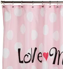 Mickey And Minnie Bathroom Accessories by Amazon Com Disney Minnie Mouse Fabric Shower Curtain Pink W Dots