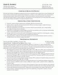 Sample Resumes HR Recruiter Or Human Resources Resume