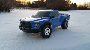 100 Truck Paddle Tires Traxxas Slash In The Snow YouTube
