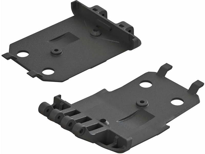 Arrma AR320419 4x4 Senton Mega F and R Lower Skidplate - 2pc