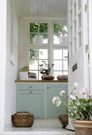 I Love The White Front Door And Contrast Color Cabinets