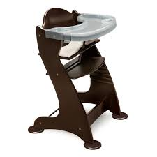 100 Wooden High Chair With Removable Tray Buy Badger Basket Embassy Adjustable Wood Espresso