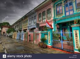 100 Terrace House In Singapore Historic Colorful Peranakan In 3 Stock Photo