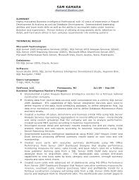 Business Systems Analyst Resume Examples Analyst Resume Sample