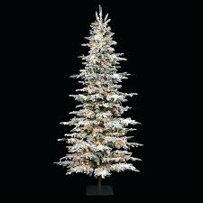 Decoration Flocked Trees Unlit Artificial 8 Ft Tree Christmas