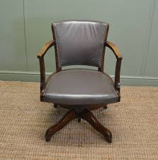 Stunning Antique Vintage Oak Office Swivel Chair Desk
