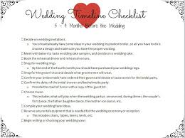 Wedding Timeline Checklist 5 AEUR 4 Months Before The