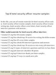 Security Guard Resume Sample Beautiful Hotel