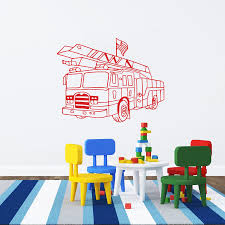 Fire Truck Wall Decal Vinyl Sticker Decals Art Home Decor Design ... Fire Station Cartoon Fighting Helmet Truck Siren Fireman Wall Decals Gutesleben Fire Svg Clipart Firefighter Decor Decal Shirt Scrapbook Amazoncom Firetrucks And Refighters Giant Stickers Removable Truck Wall Sticker Decals Code 3 Nursery Refighting Vinyl 6472 Custom Car Window Marshalls Decal Shop Fathead For Paw Patrol Decor 6 Awesome Police Emergency Archives Tko Graphix Pouch Puzzle Mudpuppy