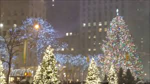 Rockefeller Plaza Christmas Tree 2014 by Rockefeller Center And Christmas Tree In The Snow Youtube