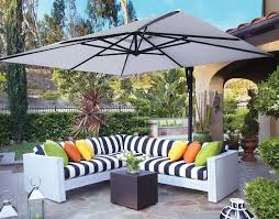 Square Patio Umbrella With Netting by Square Offset Patio Umbrella With Netting Home Design Ideas