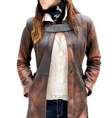 dogs women distressed leather coat blazer