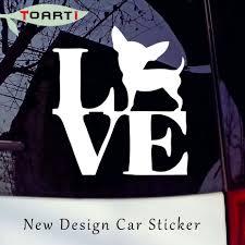 100 Truck Window Decal 1514CM Love Chihuahua Funny Dog Car Sticker Vinyl