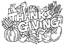 Thanksgiving Day Coloring For Kids