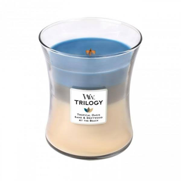 Nautical Escape WoodWick Trilogy Scented Jar Candle - Tropical Oasis, 10oz