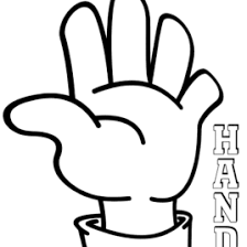 Hand Coloring Pages For Kids And Printable Hands Adult