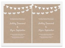 Free Kraft Paper Wedding Invite