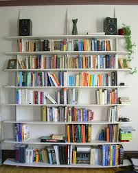 Decorating Bookshelves In Family Room by Wall Mounted Book Rack Diy Home Projects For Small Spaces Corner