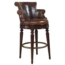 Furniture,The Best Beautiful Leather Swivel Bar Stool With Back ...