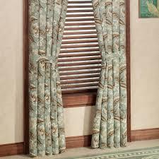 Jacobean Floral Design Curtains by Valerie Jacobean Floral Standard Length Window Treatment