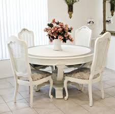 Round Shabby Chic Dining Table And Chairs dining room neat dining
