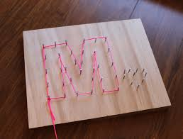 String Letters See Cool Art By Anders Hanson Elissa Mann J 516 HAN For Instructions On Making Without Wood Nails
